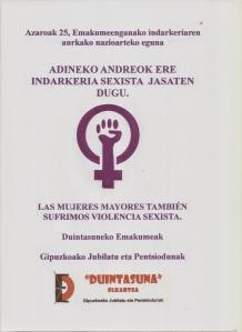 Pancarta 25 Noviembre